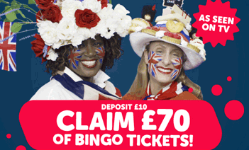 Claim £70 of Bingo tickets