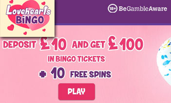 Claim £100 of Bingo tickets