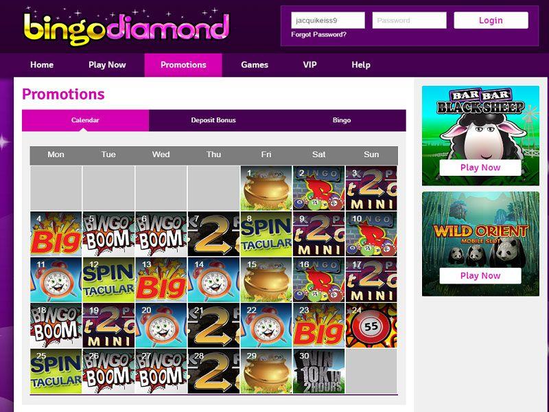Bingo-Diamond-Promotions-Page