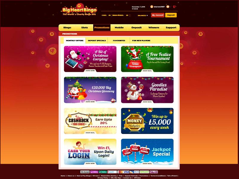 Big Hearts Bingo - Promotions Page