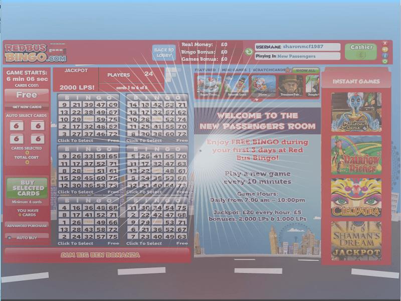 RedBus Bingo - lobby