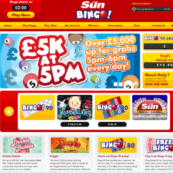 Sun online bingo login