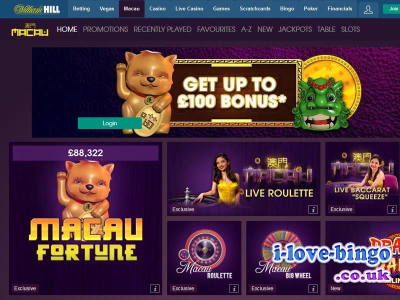 william hill games login