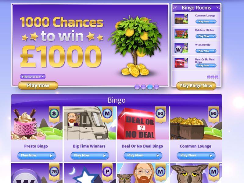 Bingo Games Section