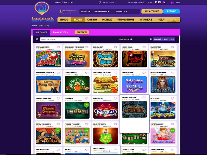 Landmark Bingo - slots