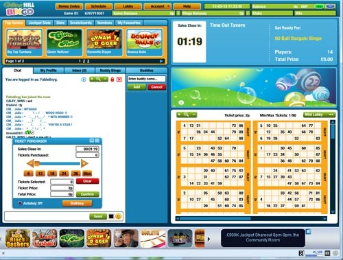 Williamhillbingo 90 balls screenshot