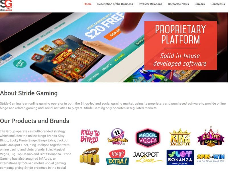 Stridegaming Homepage