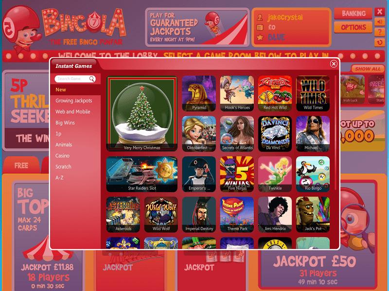 bingola games page