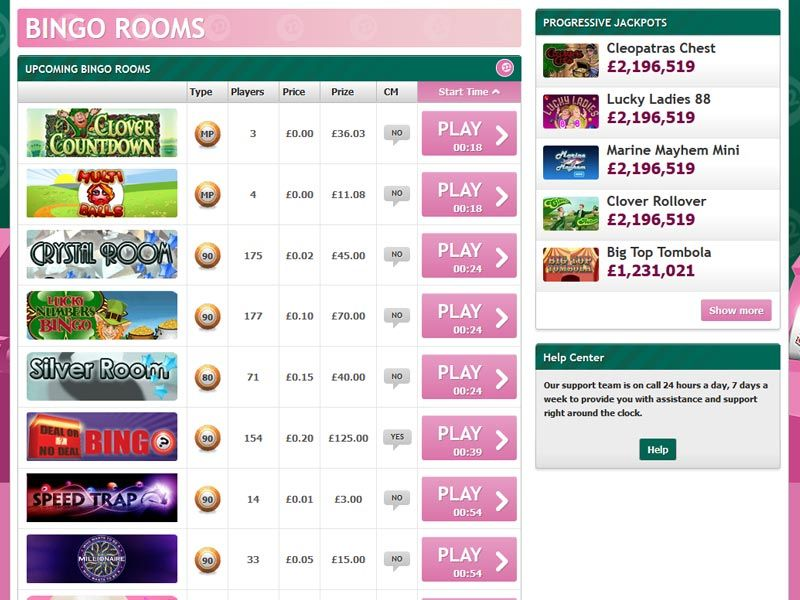 paddy-bingo-lobby screenshot