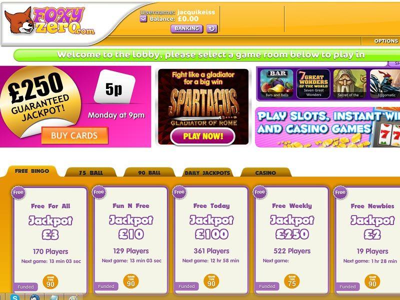 Foxy-Zero-Games-Page