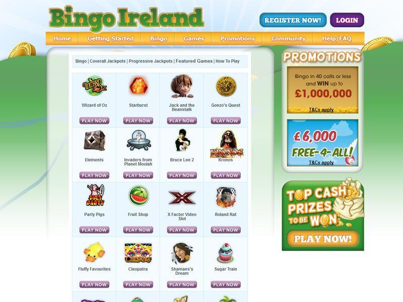 bingo-ireland slots and games