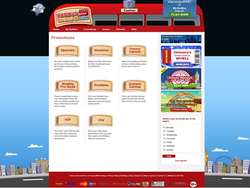 RedBus Bingo - promotions