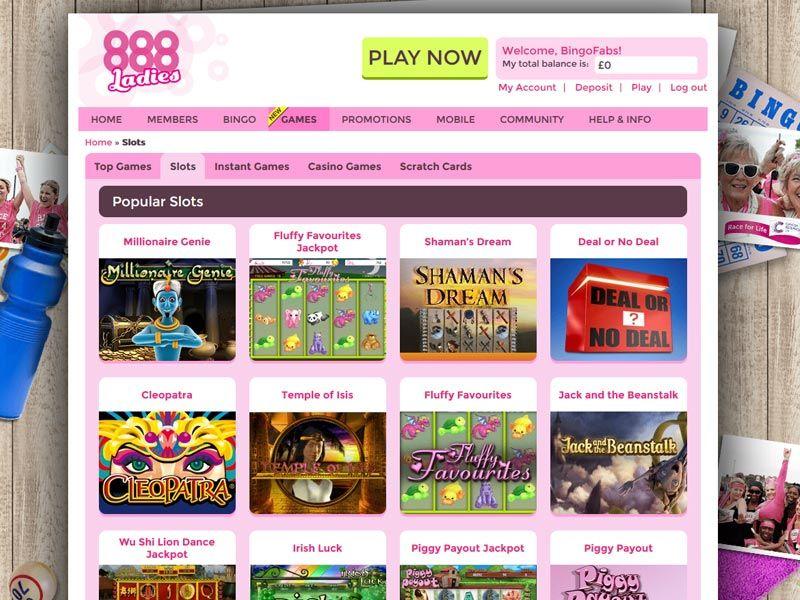 888Ladies Bingo Games