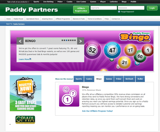 paddy power affiliate review