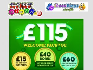 £115 Welcome Package from GoneBingo