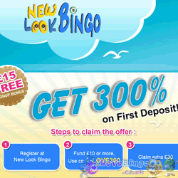 Exclusive 300% Bonus at NewLookBingo