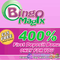 Exclusive 400% Bonus with Bingo Magix